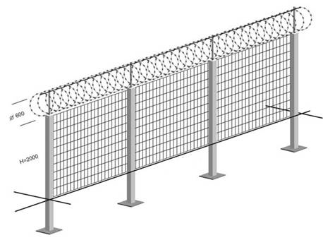Barb Wire Fence Installation Cost | Razor Wire Fence Installation Examples Catalog And Picture