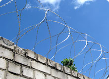 Razor wire install on wall